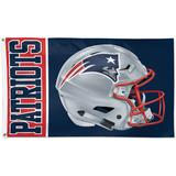 WinCraft New England Patriots 3' x 5' Helmet Deluxe Single-Sided Flag