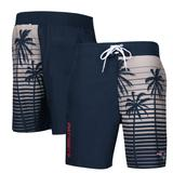 Men's G-III Sports by Carl Banks Navy New England Patriots Volley Swim Trunks