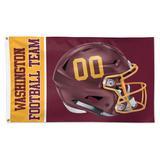 WinCraft Washington Football Team 3' x 5' Helmet Deluxe Single-Sided Flag