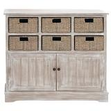 Brown Traditional Wood Storage Unit, 35 x 38 - 96296