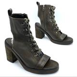 Free People Shoes | Free People City Of Lights Open Toe Bootie | Color: Brown/Green | Size: 7