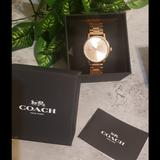 Coach Accessories | Coach Grand Horse And Carriage Watch | Color: Pink | Size: Os
