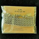 Coach Bags   Coach Handbag Chain Strap - Swap A Strap   Color: Silver   Size: Os