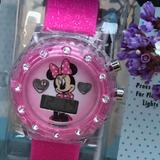 Disney Accessories   Minnie Polka Dot Bow Whearts Flashing Lcd Watch   Color: Pink/White   Size: Os