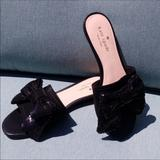 Kate Spade Shoes | Nib Kate Spade Suede & Sequined Bow Sandals 6 | Color: Black | Size: 6