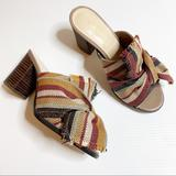 Nine West Shoes   Nine West- Womens Byron Fabric Bow Mule 6.5   Color: Brown/Yellow   Size: 6.5