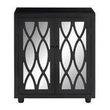 Black Wood Glam Cabinet, 36x30x14 - 53832