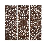 """""""( Set of 3 ) Brown Wood Traditional Abstract Wall Decor, 48"""""""" x 48"""""""" - 14255"""""""