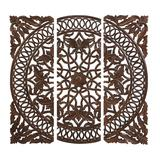 """""""( Set of 3 ) Brown Wood Traditional Wall Decor, 48"""""""" x 48"""""""" - 14305"""""""