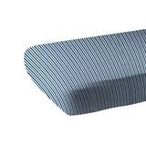 Blue and White Stripe Bamboo Crib Sheet - Newcastle Classics 5022