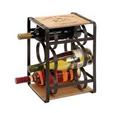 Black Metal Farmhouse Wine Holder Rack, 13 x 10 x 9 - 56173