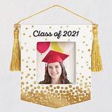 Shreeentp Congrats, Grad! Class of 2021 Porcelain Photo Frame Ornament