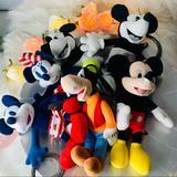 Disney Toys | Disney Lot Of Mickey & Minnie, Goofy Plush Toys | Color: Black | Size: Osbb