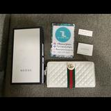 Gucci Bags | Gucci Ophidia Zip Around Long Wallet Leather | Color: White | Size: Os