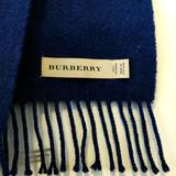 Burberry Accessories | Authentic Burberry Cashmere Scarf (Navy Blue) | Color: Blue | Size: Os