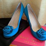 Kate Spade Shoes | Rare Gorgeous Kate Spade Karmen Rosette Pumps! | Color: Blue/Green | Size: 7.5