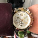 Michael Kors Jewelry | Michael Korda Statement Watch | Color: Gold/Silver | Size: Xs