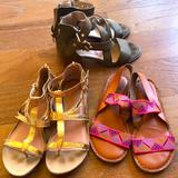American Eagle Outfitters Shoes | Sandals Flats Kenneth Cole Reaction Gold Zip Up | Color: Gold | Size: 8