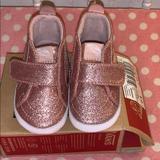 Vans Shoes | Pink Baby Vans Glitter Crib Shoe | Color: Pink/White | Size: 4bb