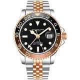 Aquadiver Black Dial Watch - Pink - Stuhrling Original Watches