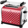 Team Kalorik Toaster TKG TO 1045 RWD N, 2 kurze Schlitze, 950 W, mit Toastzentrierung rot Haushaltsgeräte