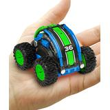 USA Toyz Toy Cars and Trucks - Green & Blue Stunt Roller RC Car