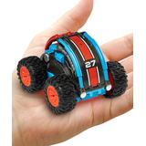 USA Toyz Toy Cars and Trucks - Red & Blue Stunt Roller RC Car