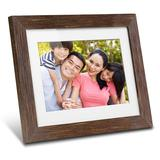 Aluratex 8-in. Distressed Wood Digital Photo Frame with Automatic Slide Show, Brown