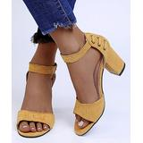 YASIRUN Women's Sandals Yellow - Yellow Lace-Up Accent Buckle Sandal - Women