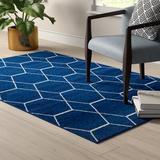 Mercury Row® Elborough Geometric Navy Blue Area Rug Polypropylene in Blue/Navy, Size 108.0 W x 0.33 D in | Wayfair D47EDAFF950F4E0E8E8BD6BD2AE5E768
