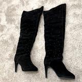 Victoria's Secret Shoes   Black Thigh High Boots With Studs   Color: Black   Size: 8