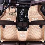 WeiRanShangMao Car Custom Floor Mats for Ford Focus 2005-2011 (Aisle 19cm) Luxury Leather Waterproof Non-Slip Full Coverage Floor Line Full Set (Beige,for Ford Focus 2005-2011 (Aisle 21cm))