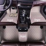 WeiRanShangMao Car Custom Floor Mats for Ford Focus 2005-2011 (Aisle 19cm) Luxury Leather Waterproof Non-Slip Full Coverage Floor Line Full Set (Gray,for Ford Focus 2005-2011 (Aisle 21cm))