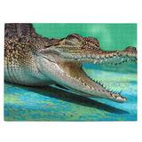 Mini Crocodiles Jigsaw Puzzle,520 Piece Wooden Large Format Jigsaw Puzzle for Kids Adults KXT