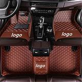 WeiRanShangMao Car Custom Floor Mats for Ford Focus 2005-2011 (Aisle 19cm) Luxury Leather Waterproof Non-Slip Full Coverage Floor Line Full Set (Brown,for Ford Focus 2019)