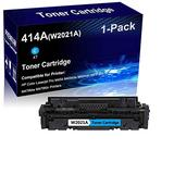 1-Pack (Cyan) Compatible Laser Toner Cartridge High Yield Replacement for HP 414A | W2021A | Laser Printer Toner Cartridge use for HP Laserjet Pro M454 M454dw MFP M479 M479fdw Printer (No Chip)