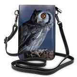 Crossbody Cell Phone Purse Night Owl Small Crossbody Bags Women Pu Leather Shoulder Bag Handbag