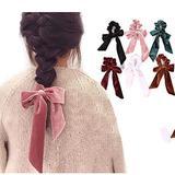 2021 Summer women's Ribbon bow velvet hair Scrunchies Hair Tie Hair Accessories Ponytail Hair accessories Gift 6pcs