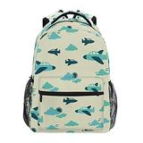 xigua Fun Plane Kids Backpacks for Boys and Girls, Large Capacity Lightweight Primary Elementary School Bookbag with Adjustable Strap, Perfect Size for School & Travel Backpacks