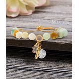 Willowbird Women's Bracelets Multicolored - Agate & Crystal 'Breathe' Charm Beaded Adjustable Bracelet
