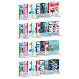 AHPL 5mm Thick Multipurpose Wall Mounted Shelves | Book Shelves for Kids Room | Easy to Install & Sturdy Floating Bookshelf (4 Pack, 24 Inch)