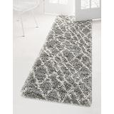 Rugs.com Soft Touch Shag Collection Runner Rug – 10 Ft Runner Cloud Gray Shag Rug Perfect for Hallways, Entryways