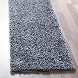 Rugs.com Soft Solid Shag Collection Runner Rug – 6 Ft Runner Pebble Gray Shag Rug Perfect for Hallways, Entryways