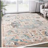 Azure Collection Faded Beige 6'x9' Persian Area Rug - Vintage Style Accent Rug by Abani Rugs