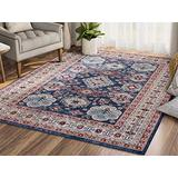 Abani Rugs Blue Traditional 4'x6' Persian Area Rug - Classic Style, Mesa Collection Accent Rug