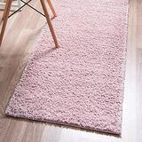 Rugs.com Soft Solid Shag Collection Runner Rug – 6 Ft Runner Pink Shag Rug Perfect for Hallways, Entryways