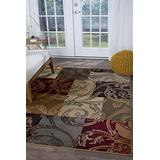 Reagan Multi-Color 8x11 Rectangle Area Rug for Living, Bedroom, or Dining Room - Transitional, Floral
