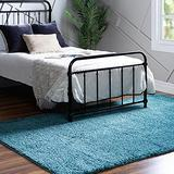 Rugs.com Soft Solid Shag Collection Area Rug – 2x3 Turquoise Shag Rug Perfect for Entryways, Kitchens, Breakfast Nooks, Accent Pieces