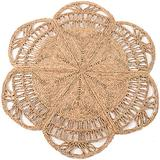 100% Natural Hand Woven Jute Round Area Rug, Natural Round Jute Rug, Farmhouse Style Braided Kitchen Area Rug, Grass Rug for Bedroom , Reversible Rustic Vintage Braided Round Jute Rug 4 ft