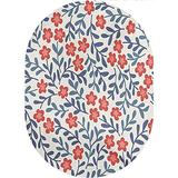 Floral Area Rugs Carpets,Spring Imagery with Warm Vintage Colors Leaves Ornamental Floral Design Printed Pattern Area Rugs Carpets,4'x 6'Oval,for Accent Rugs Home Bedrooms Floor Decorative